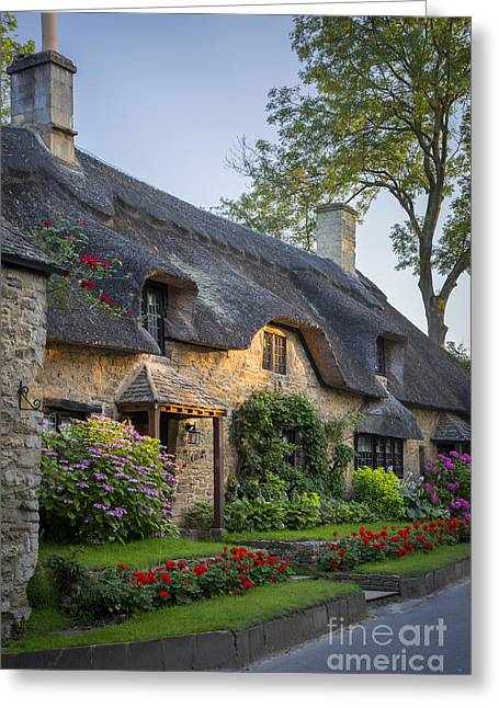 Thatch Greeting Cards - Thatched Roof - Cotswolds Greeting Card by Brian Jannsen