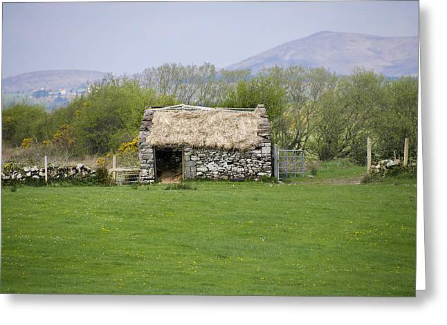Thatch Digital Greeting Cards - Thatched Roof in the Irish Countryside Greeting Card by Bill Cannon