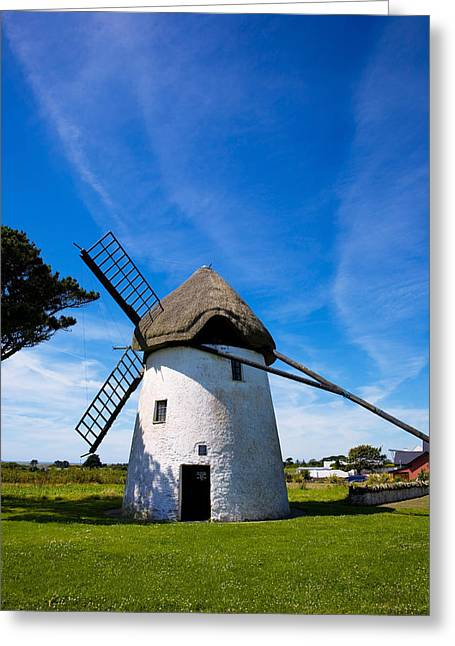 Thatch Greeting Cards - Thatched Windmill, Tacumshane, County Greeting Card by Panoramic Images