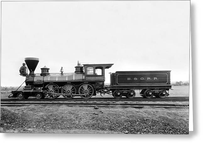Thatcher Perkins Locomotive Greeting Card by Underwood Archives