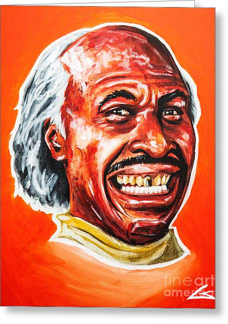 Clippers Paintings Greeting Cards - Thatll be 8 Dollars Greeting Card by Chuck Styles