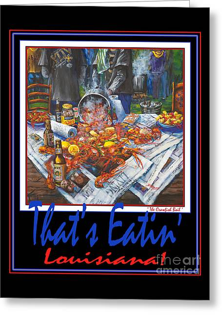 Crawfish Beer Greeting Cards - Thats Eatin Louisiana Greeting Card by Dianne Parks