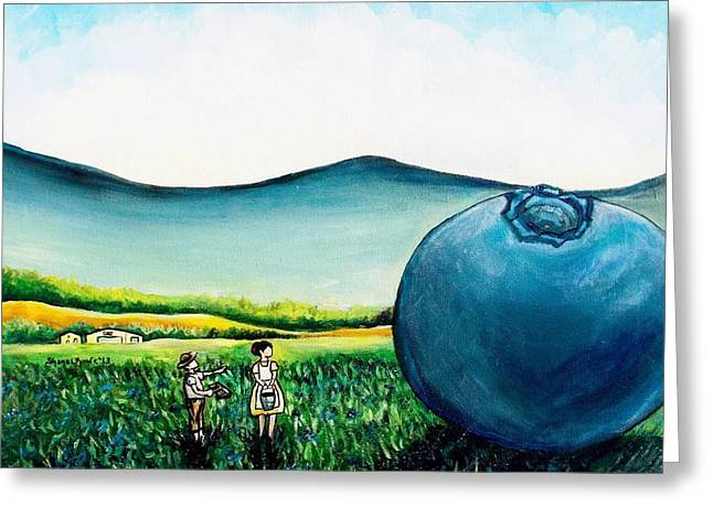 Maine Farms Paintings Greeting Cards - Thats Gonna Make a lot of Pies Greeting Card by Shana Rowe