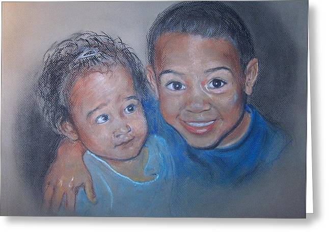Together Pastels Greeting Cards - Thats my brother Greeting Card by Martha Suhocke