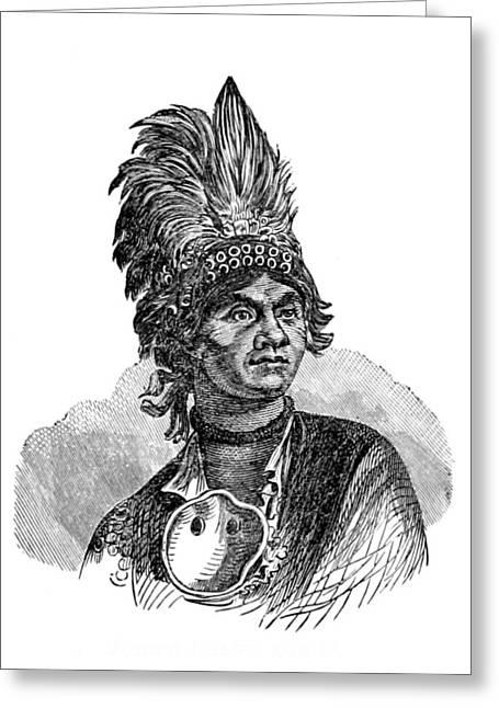 Thayendanegea, Joseph Brant, Mohawk Greeting Card by British Library