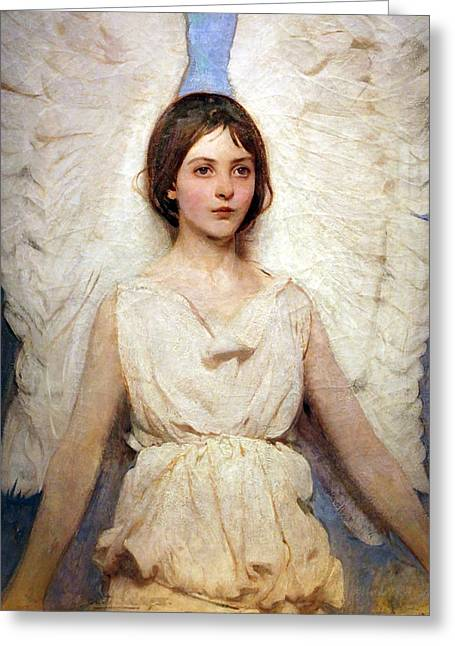 Cora Wandel Greeting Cards - Thayers Angel Greeting Card by Cora Wandel
