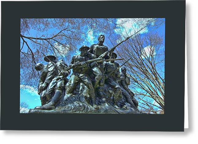 Wwi Greeting Cards - The 107th Infantry Memorial Sculpture Greeting Card by Allen Beatty