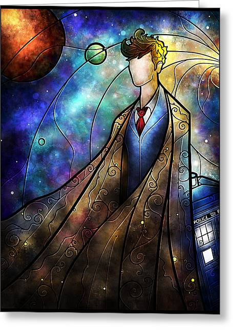 Doctor Who Greeting Cards - The 10th Greeting Card by Mandie Manzano
