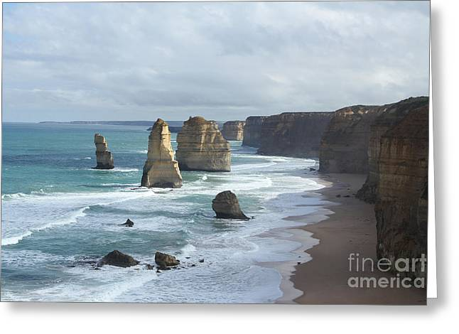 Geelong Greeting Cards - The 12 Apostles Greeting Card by Josephine Caruana