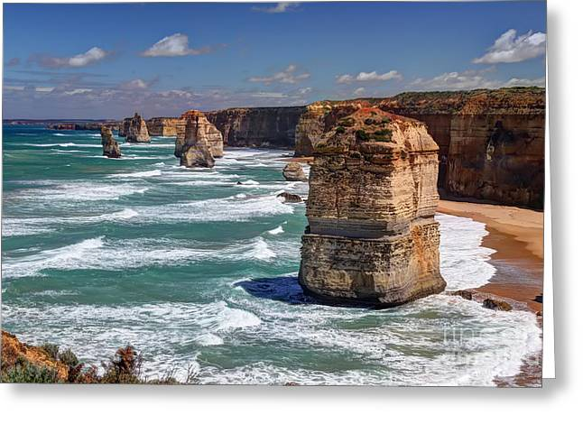 Ocean Shore Greeting Cards - The 12 APOSTLES Greeting Card by Richard Mann