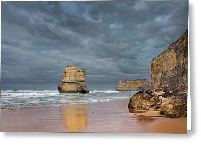 The 12 Apostles, Seen From The Beach Greeting Card by Martin Zwick