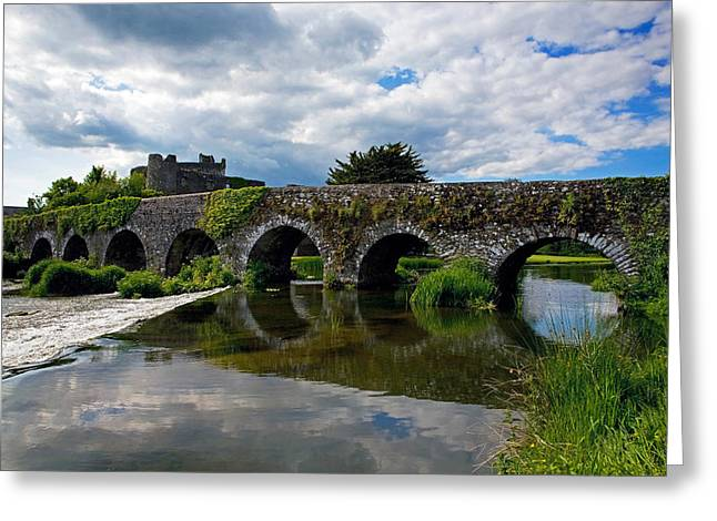 Civil Greeting Cards - The 13 Arch Bridge Over The River Greeting Card by Panoramic Images
