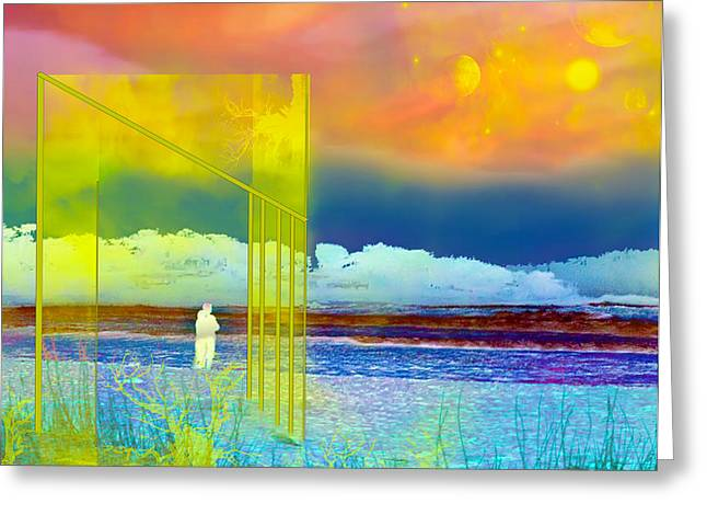 Doorway Digital Greeting Cards - The 13th dimension Greeting Card by Camille Lopez