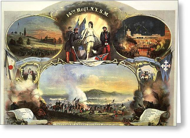 Brigade Greeting Cards - The 14th Regiment New York State Militia Greeting Card by Unknown