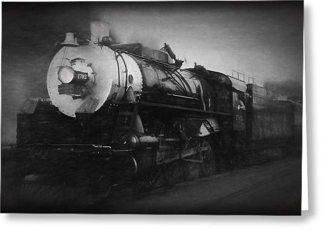 Consolidation Greeting Cards - The 1702 Locomotive Greeting Card by Richard Rizzo