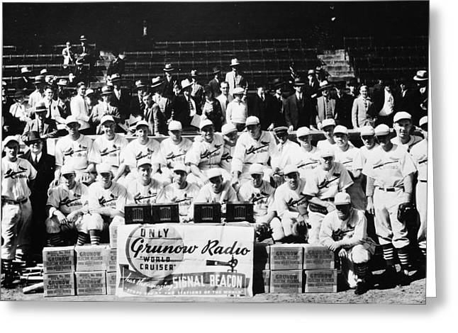 Mlb Photographs Greeting Cards - The 1934 St. Louis Cardinals Greeting Card by Retro Images Archive
