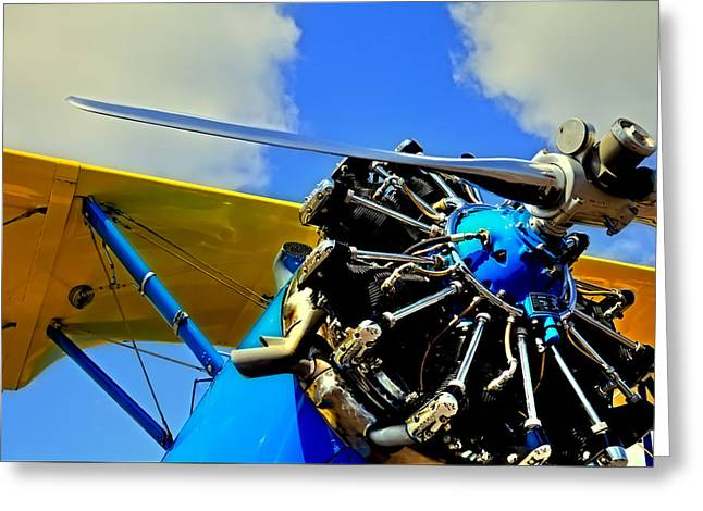 Plane Radial Engine Greeting Cards - The 1940 Stearman PT-18 Kadet Greeting Card by David Patterson
