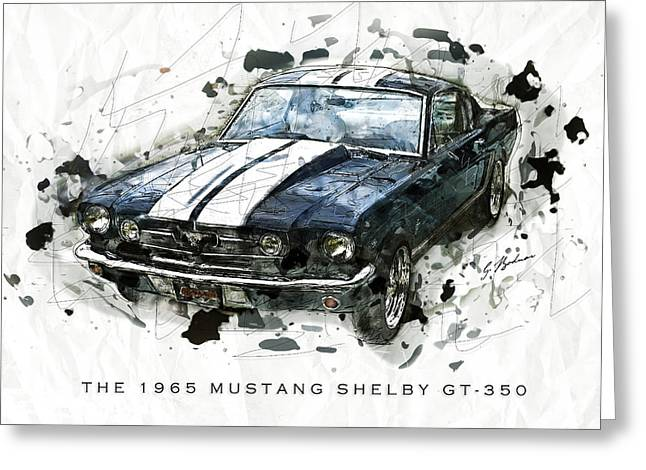 Fast Cars Greeting Cards - The 1965 Shelby GTO-350 #3 Greeting Card by Gary Bodnar