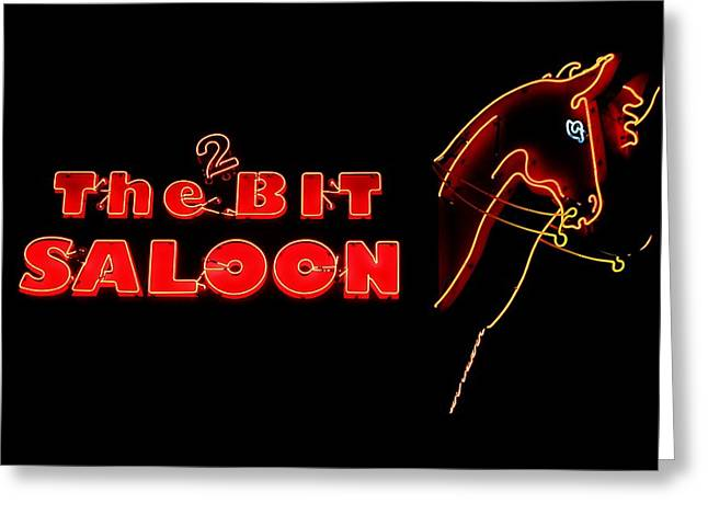 Saloons Greeting Cards - The 2 Bit Saloon Greeting Card by Benjamin Yeager