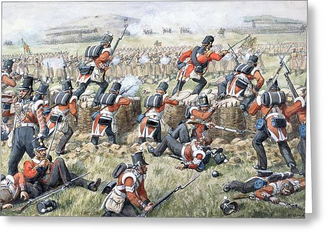 Mounting Greeting Cards - The 23rd Regiment Royal Welsh Fusiliers Greeting Card by Richard Simkin
