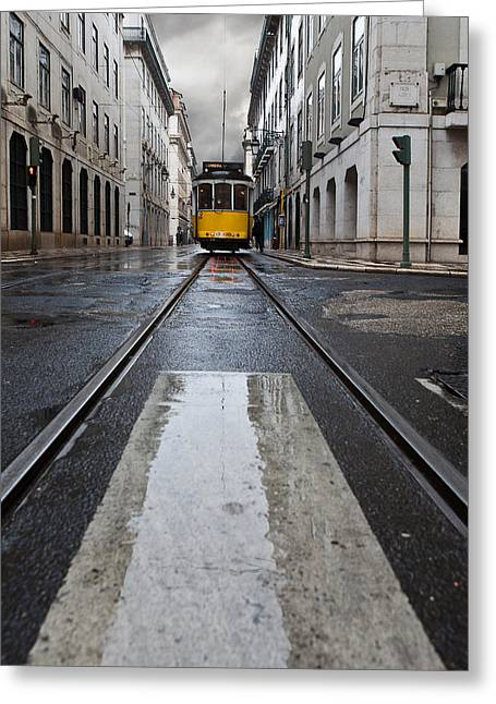 Lisbon Greeting Cards - The 28 Greeting Card by Jorge Maia