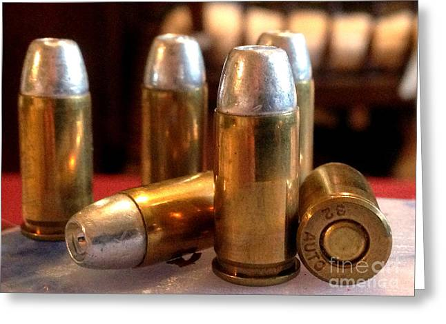 Bullet Greeting Cards - Bullet Art 32 Caliber Hollow Point Bullet 1 Greeting Card by Lesa Fine