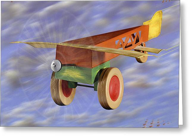 Tin Planes Greeting Cards - The 356th Toy Plane Squadron 2 Greeting Card by Mike McGlothlen