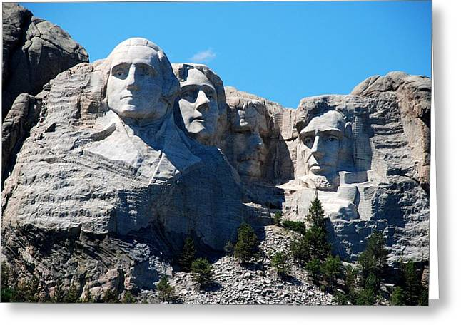 Borglum Greeting Cards - The 4 presidents Greeting Card by Dany  Lison