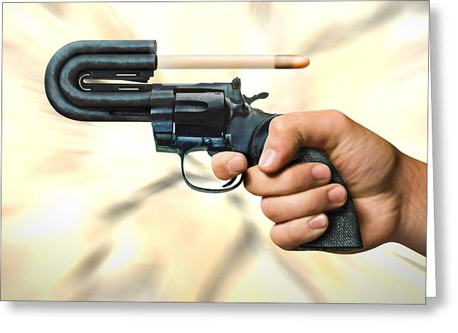 44 Magnum Greeting Cards - The 44 Magnum Justifier Greeting Card by Mike McGlothlen