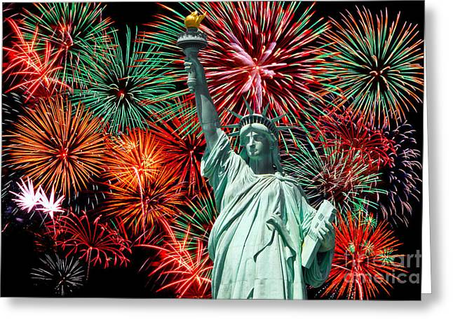 Independance Greeting Cards - The 4th of July Greeting Card by Anthony Sacco