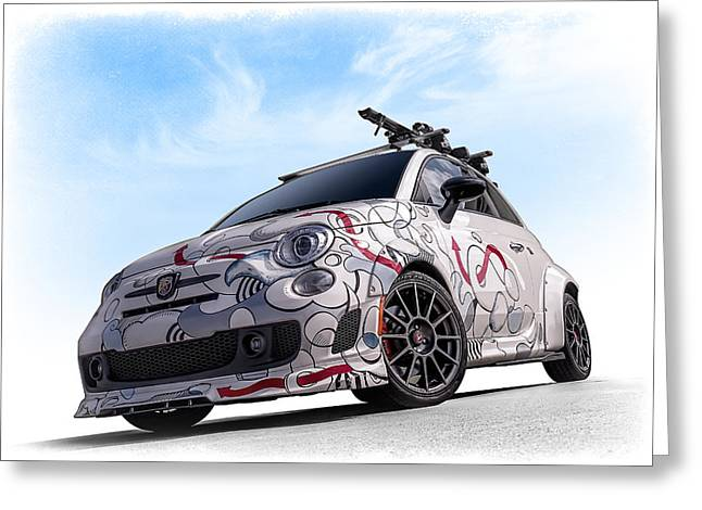 Fiat 500 Greeting Cards - The 500 Greeting Card by Douglas Pittman