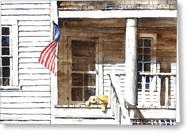 4th July Paintings Greeting Cards - The 5th of July Greeting Card by William Beaupre