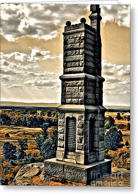 Yankee Division Greeting Cards - The 91st Greeting Card by Steve Ratliff
