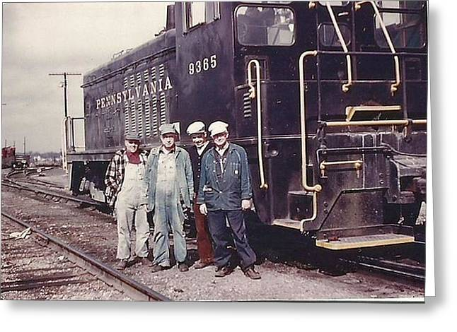 1960 Greeting Cards - The 9365 Pennsylvania Railroad Greeting Card by R A W M