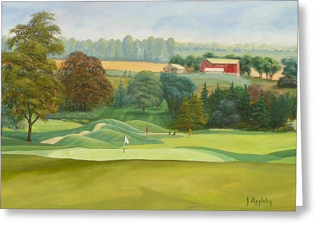 9th Hole Greeting Cards - The 9th Greeting Card by Jo Appleby