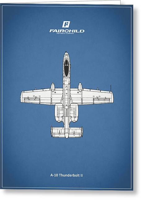 Airplane Greeting Cards - The A-10 Thunderbolt Greeting Card by Mark Rogan