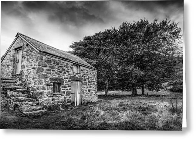 The Abandoned Cottage Greeting Card by Christine Smart