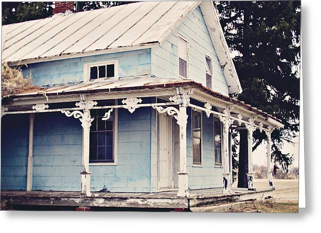 Michigan Farmhouse Greeting Cards - The Abandoned Dollhouse Greeting Card by Bethany Helzer