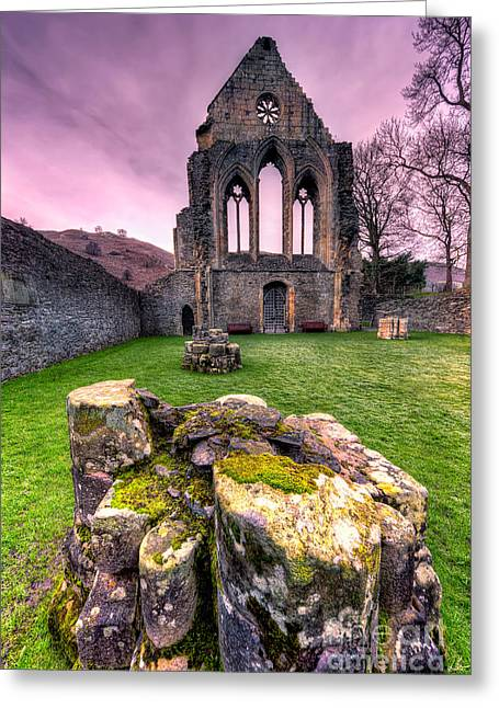 Religious Digital Greeting Cards - The Abbey  Greeting Card by Adrian Evans