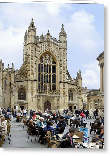 Gathering Greeting Cards - The Abby at Bath Greeting Card by Mike McGlothlen