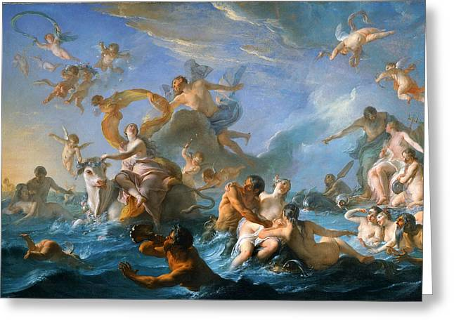 The Abduction Of Europa Greeting Card by Noel-Nicolas Coypel