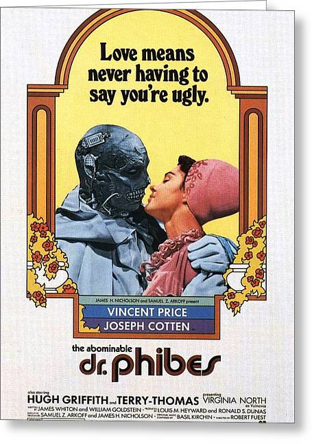 Movie Poster Gallery Greeting Cards - The Abominable Dr. Phibes  Greeting Card by Movie Poster Prints