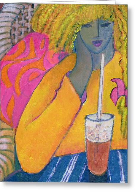 Drinking Greeting Cards - The Absolute Last Straw Greeting Card by Jeanette Lassen