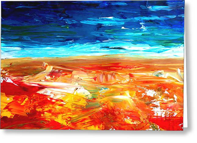 The Abstract Rainbow Beach Series II Greeting Card by M Bleichner
