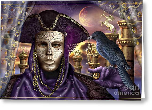 Mask Digital Greeting Cards - The Accomplice Greeting Card by Ciro Marchetti
