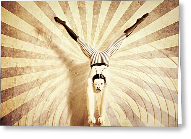Acrobat Image Greeting Cards - The acrobat Greeting Card by Heike Hultsch