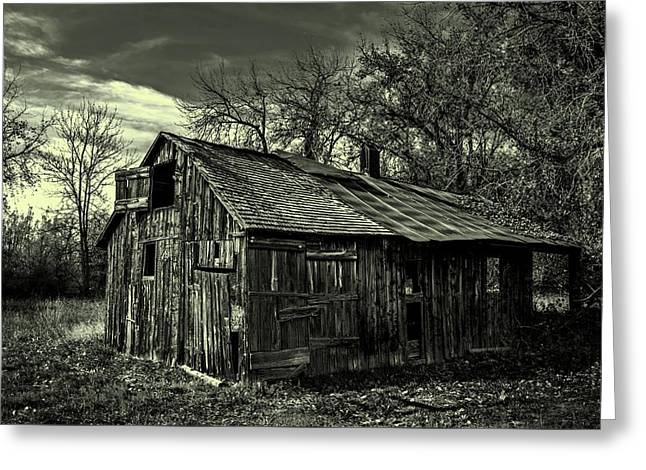 Black Lodge Greeting Cards - The Adirondack Mountain Region Barn Greeting Card by Movie Poster Prints
