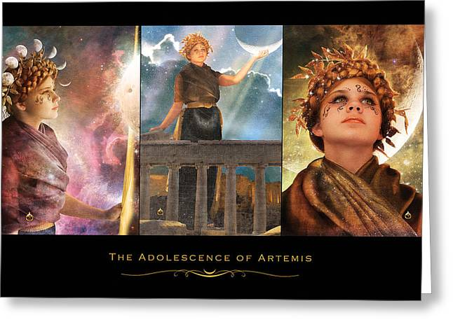 Empowerment Greeting Cards - The Adolescence of Artemis Greeting Card by Sonya Shannon