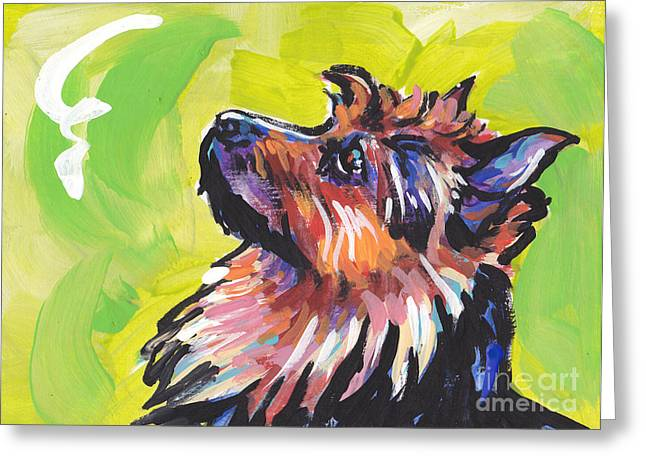 Lea Greeting Cards - The Adorable Aussie Terror Greeting Card by Lea