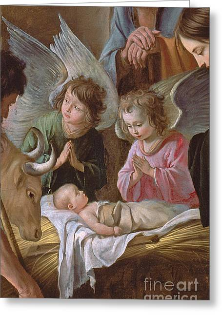 Religious Paintings Greeting Cards - The Adoration Greeting Card by Le Nain